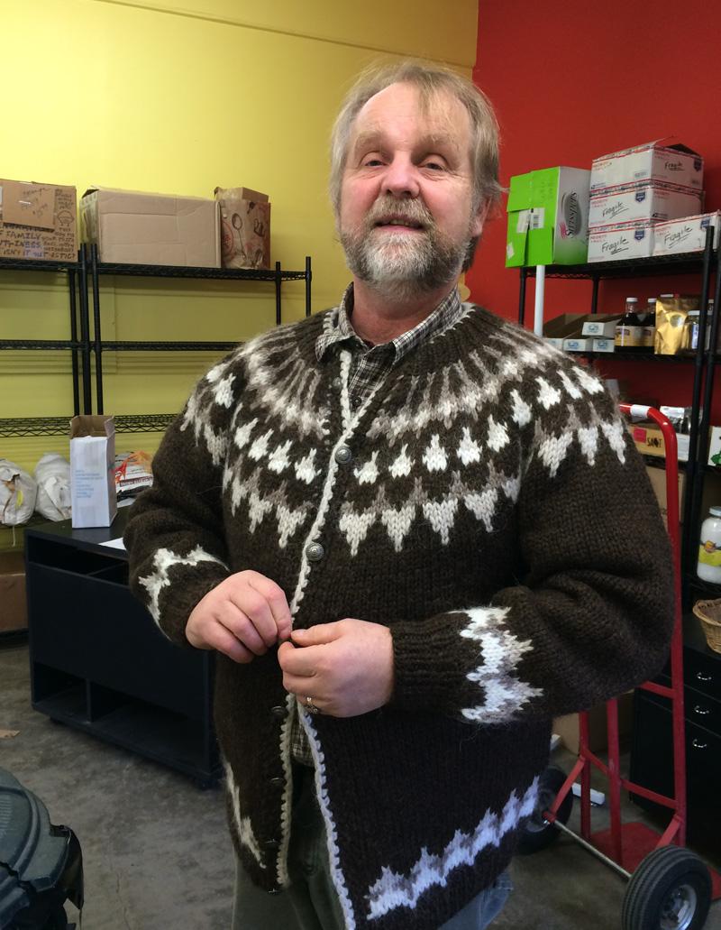 Valdi and his sweater
