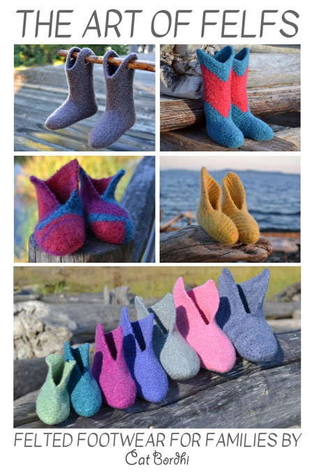 These knitted slipper patterns will warm the hearts and feet of those you love! This eBook of Cat Bordhi's Felf patterns and the instructional videos will keep your knitting needles busy and all of the proceeds go to a wonderful cause, SD Ireland Cancer Research Fund.