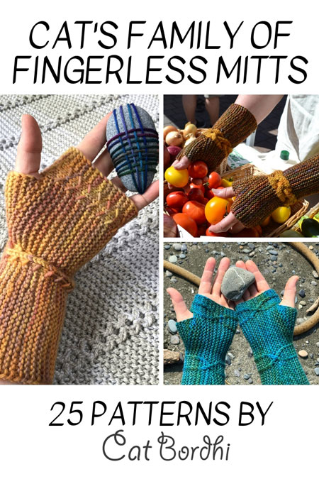 Cat Bordhi's Fingerless Mitts Knitting Patterns provides you with 9 folios and 25 patterns.